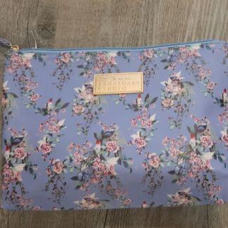 cosmetic bag blue
