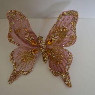 Pink velvet butterfly