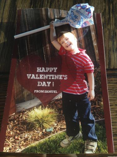 Valentine's Photo Candy Card