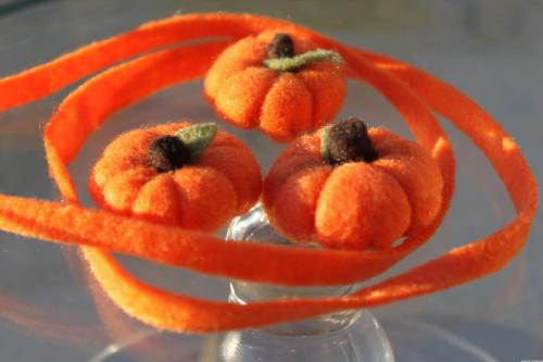 Felt Food Pumpkins