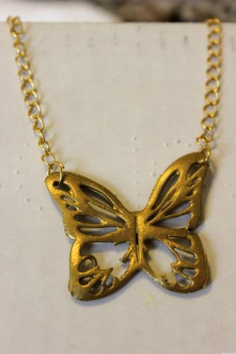 Gold Butterfly Necklace & How to Cut Shrink Plastic with Silhouette Cameo