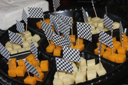 Checkered Flag Cheese Appetizers