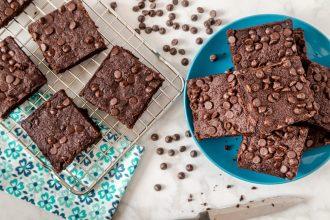 KETO Chocolate Chip Brownies Recipe Image