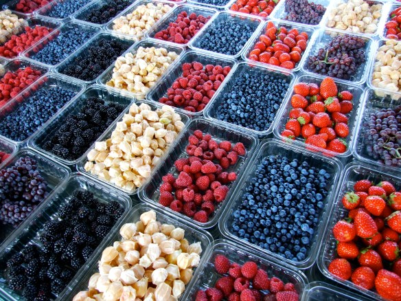 Berries in Jean Talon Montreal Market