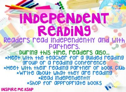 Reading workshop independent reading