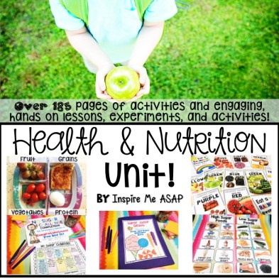 March is National Nutrition Month! This blog post shares 5 fun and engaging ways that you can celebrate this month with your primary aged students! by Inspire Me ASAP