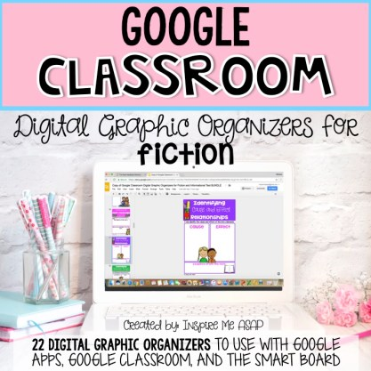 Looking for digital resources to use for Google Classroom? This blog post explains how to use ELA graphic organizers with digital devices, SMART boards, and Google Classroom.