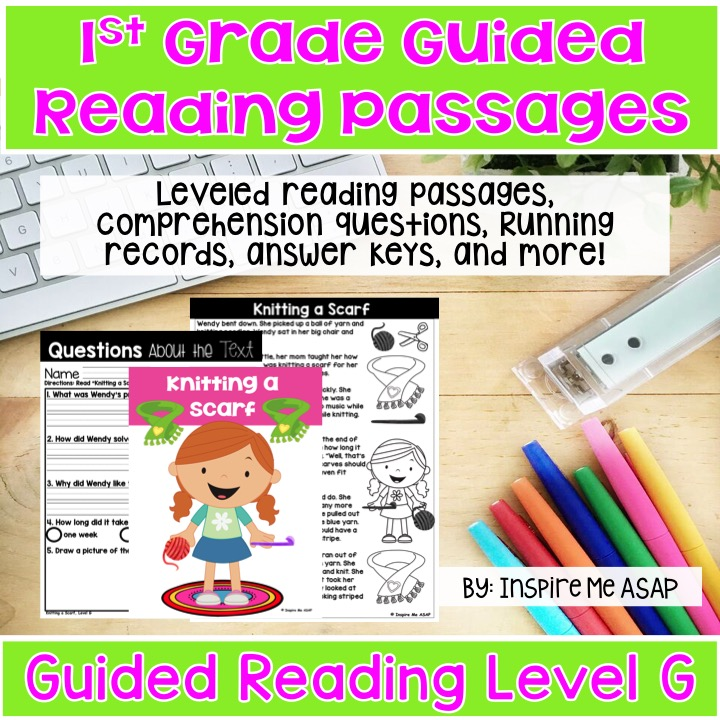 Level G Guided Reading Passages - Inspire Me ASAP