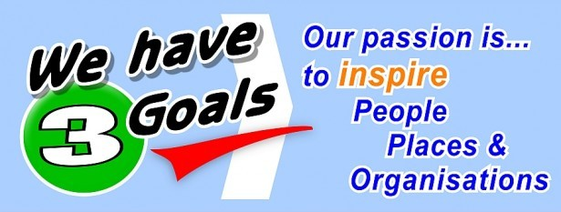to inspire people, places and organisations
