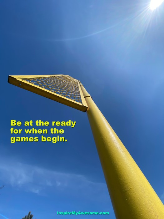 """A foul pole waiting to say """"Home run!"""""""