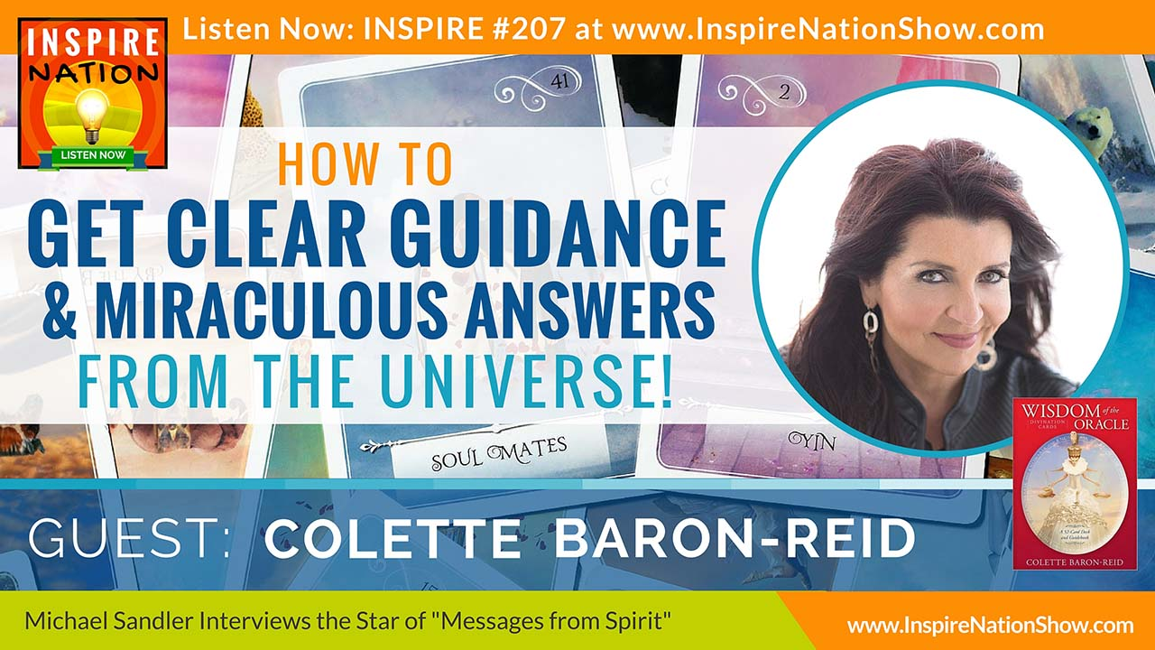 """Listen to Michael Sandler's interview with Colette Baron-Reid, star of the TV show """"Messages from Spirit"""""""