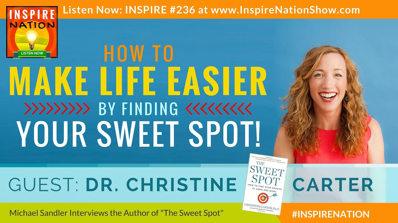 Listen to Michael Sandler's interview with Dr Christine Carter on The Sweet Spot!
