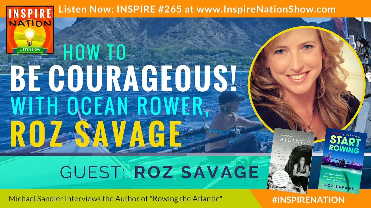 Listen to Michael Sandler's interview with Roz Savage on rowing across the Atlantic (& the Pacific!)