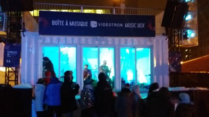 "Live music during -20℃ weather! The ""Music Box!"""