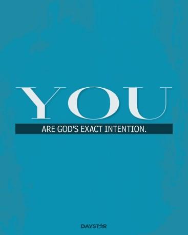 God's intention daystar oster