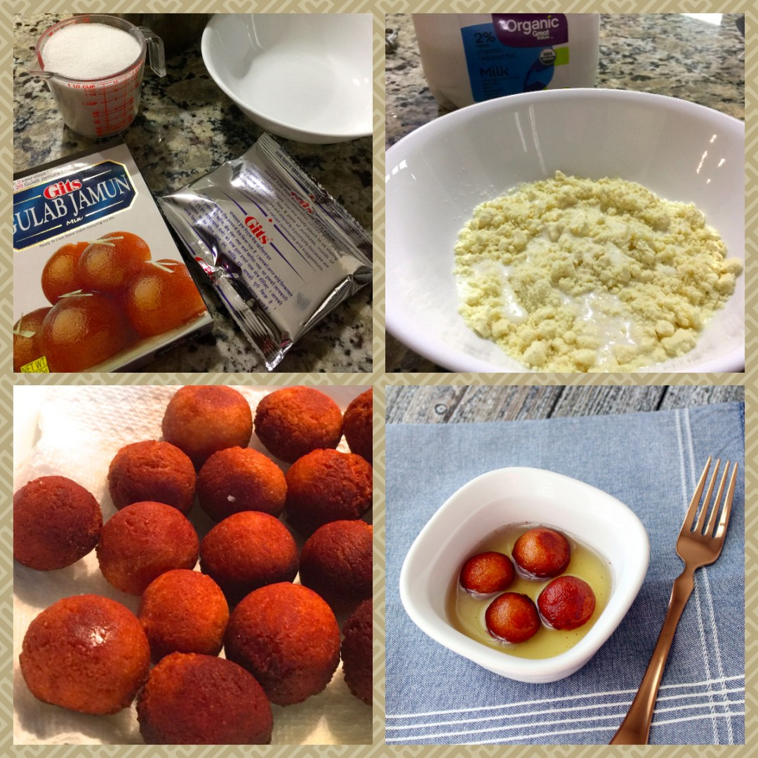 Steps in making gulab jamun from Gits instant mix