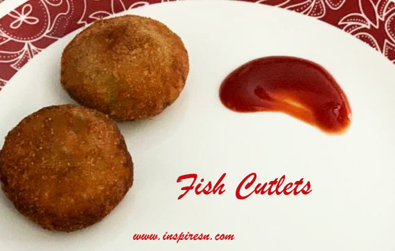 Fish cutlet ready to be served
