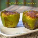 Stuffed green bell peppers (Bharwa Shimla Mirch)
