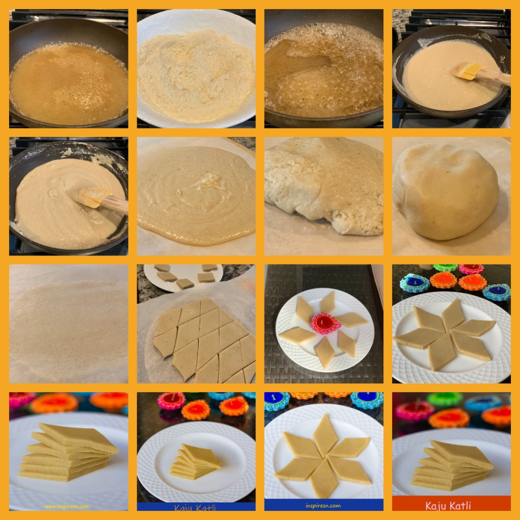 Kaju Katli Steps in Making
