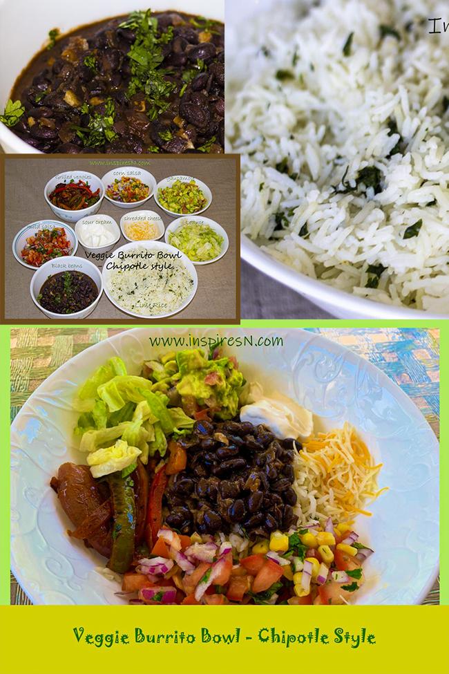 Veggie burrito bowl Chipotle style