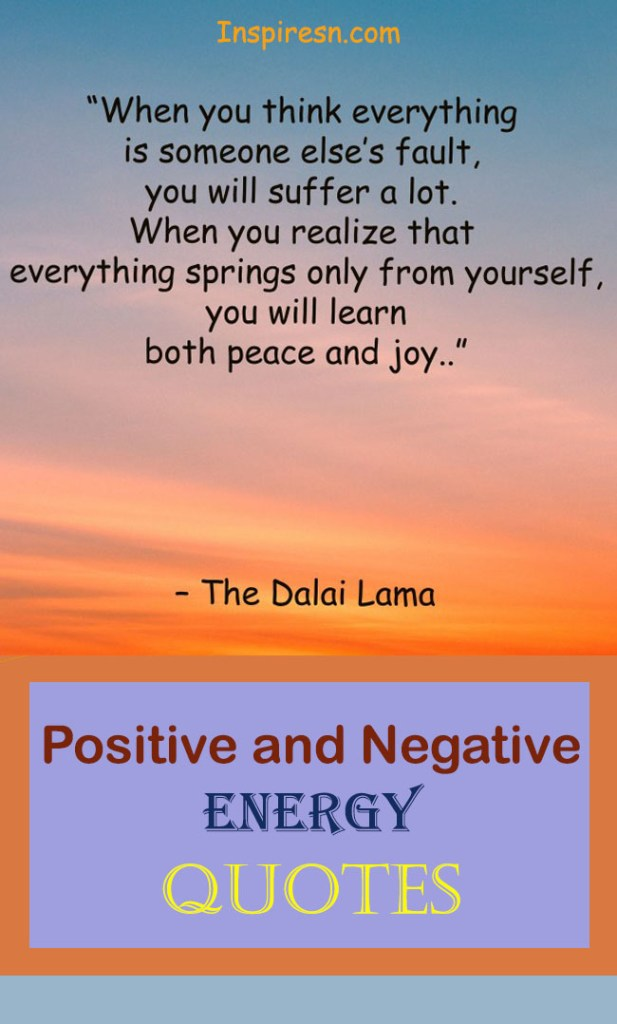 Positive energy and negative energy