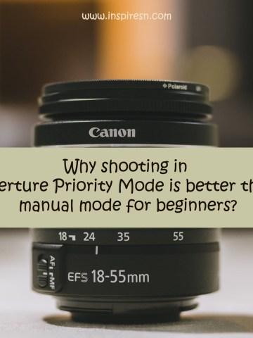 shooting in aperture priority mode