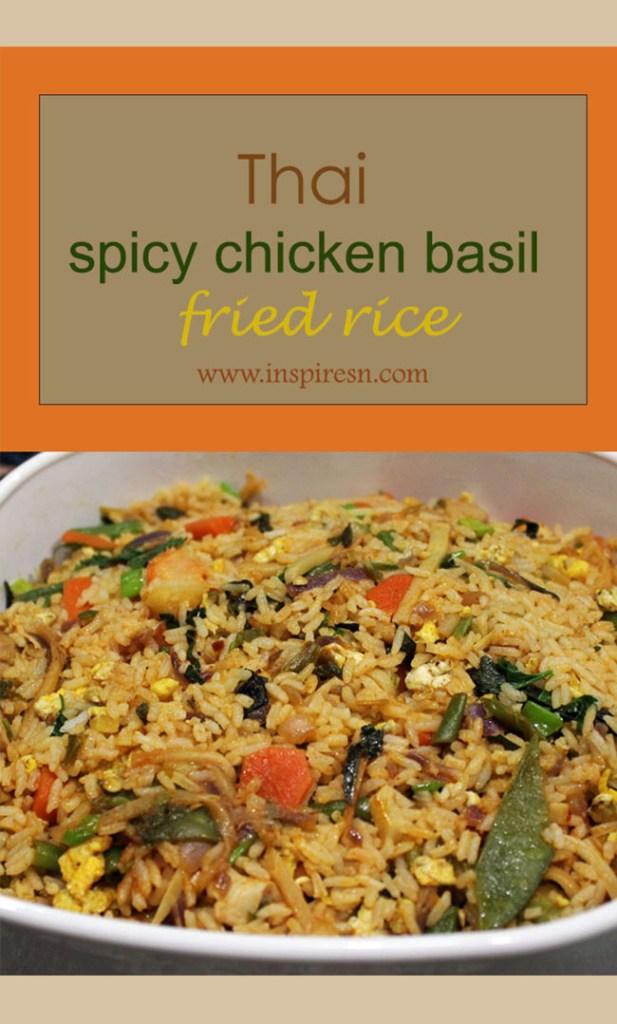 Thai spicy chicken basil fried rice