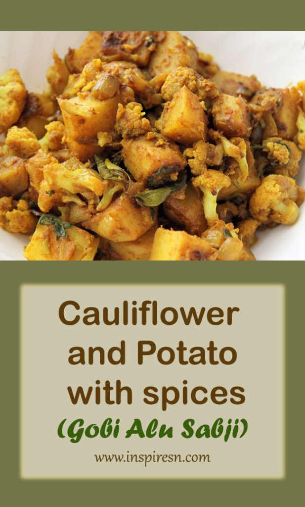Cauliflower and potato with spices