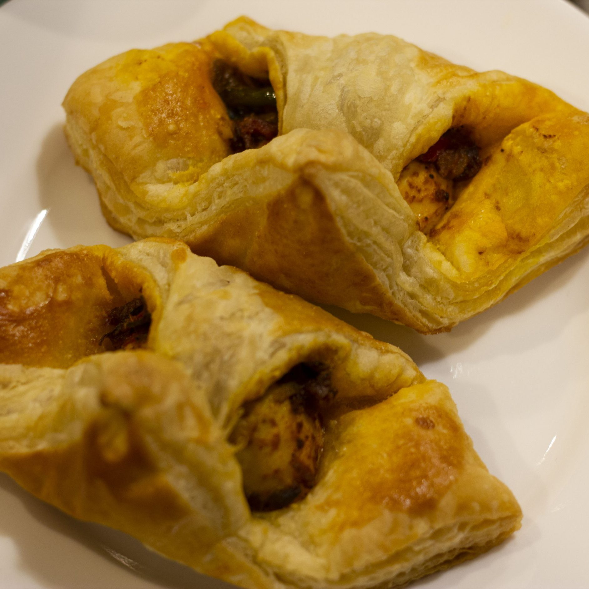 Egg puffs with pastry sheets