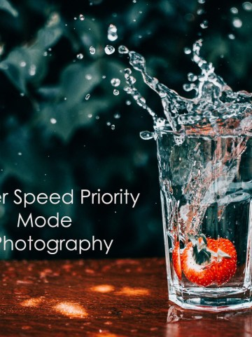 Shutter speed priority mode