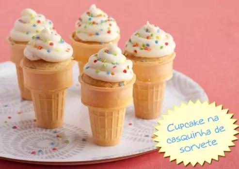 Como fazer Cupcake na casquinha de sorvete ou sorvete quente