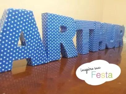 Como fazer nome em 3D com cartolina para festas – PAP