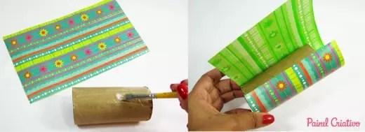 porta lapis com tubos de papelao 3