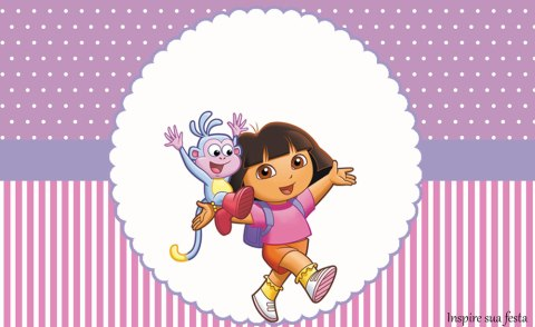 Dora Aventureira – Kit festa infantil grátis para imprimir