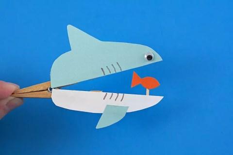 Como fazer Tubarão de papel