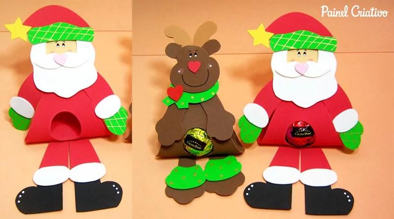 Porta Bombom do Papai Noel – Como fazer