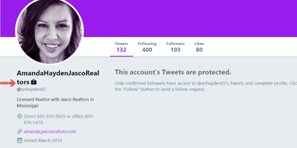 protected tweets by realtor