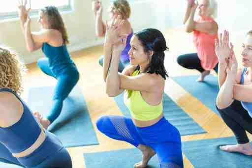Inspire Yoga Students scandasana right side