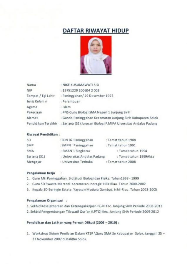 Contoh CV lamaran kerja (Curriculum Vitae) yang menarik dan kreatif / Daftar Riwayat Hidup yang baik dan benar untuk melamar pekerjaan