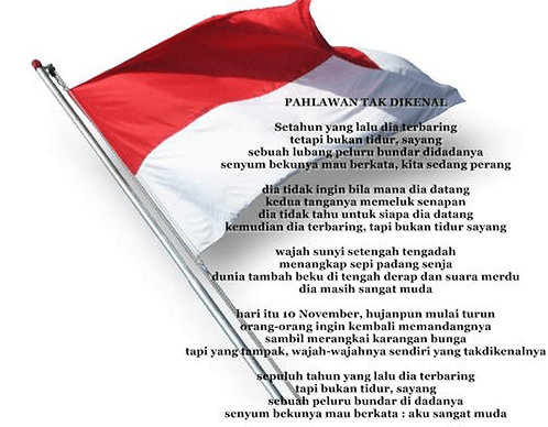 puisi pahlawan tak dikenal