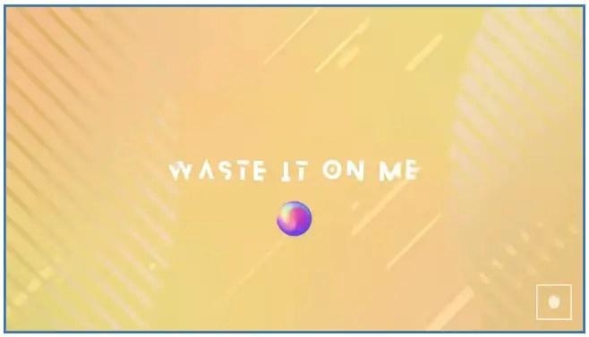 lirik lagu waste it on me BTS Steve Aoki