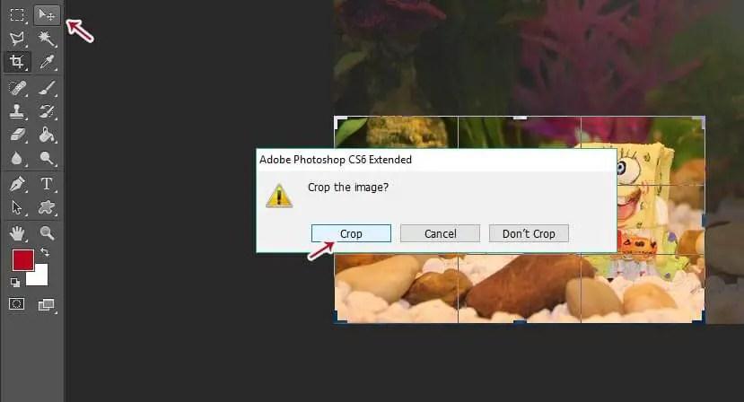 cara mengecilkan gambar di photoshop / crop