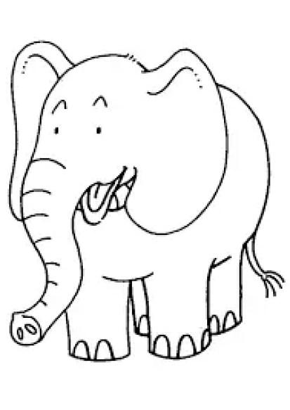 mewarnai gambar hewan gajah