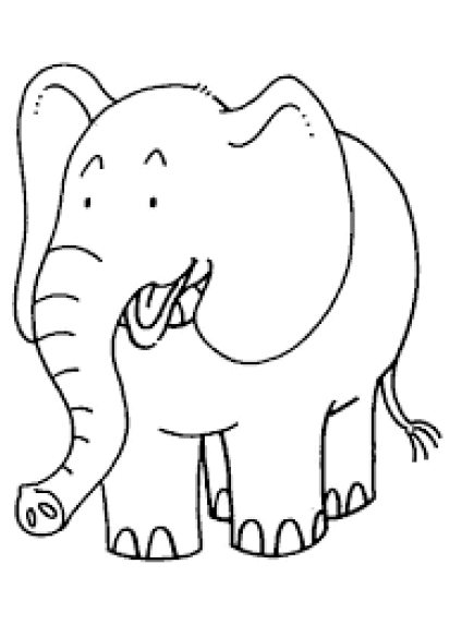 Gambar Mewarnai Anak Gajah Yang Lucu Gambar Mewarnai Viewletterco
