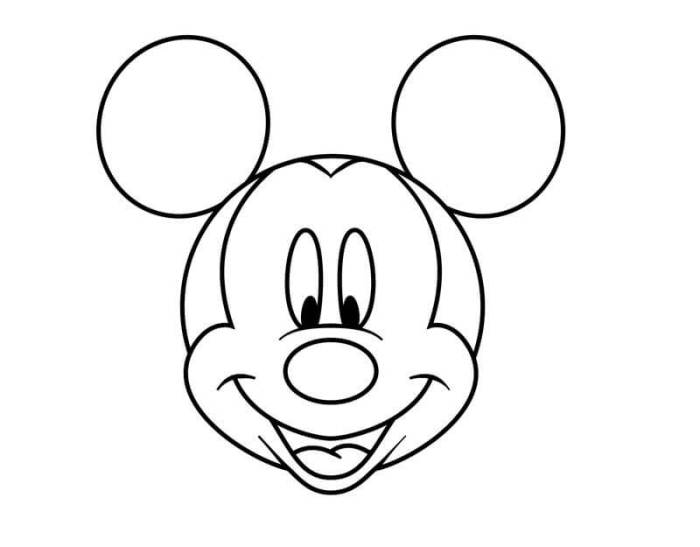 gambar mewarnai micky mouse