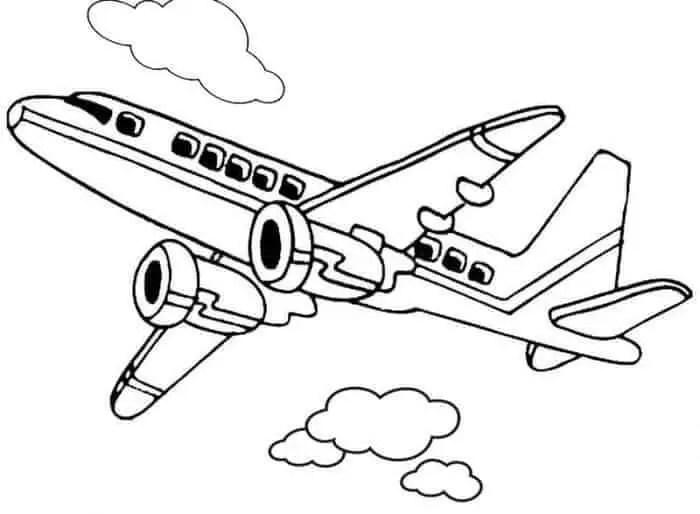 gambar mewarnai pesawat