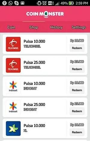 cara mendapatkan pulsa gratis XL, Telkomsel, Indosat langsung masuk 2019