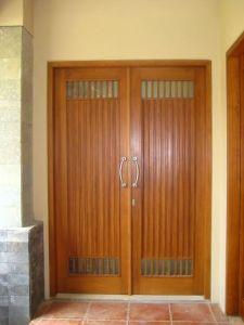 Gambar Pintu Kayu Jati Minimalis