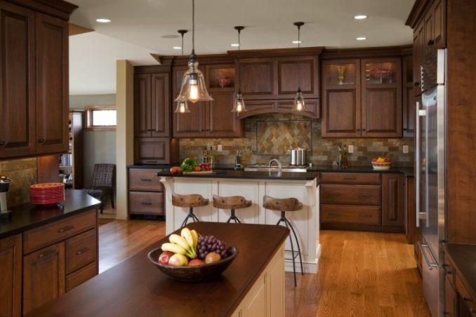 Gambar kitchen set dari kayu jati