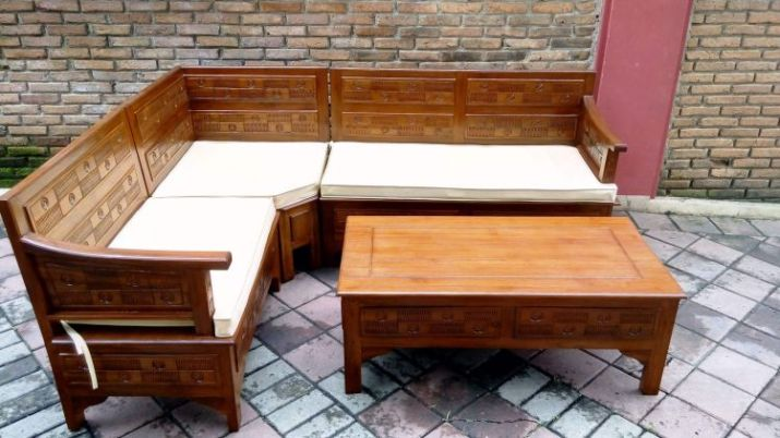 gambar meja kursi kayu jati
